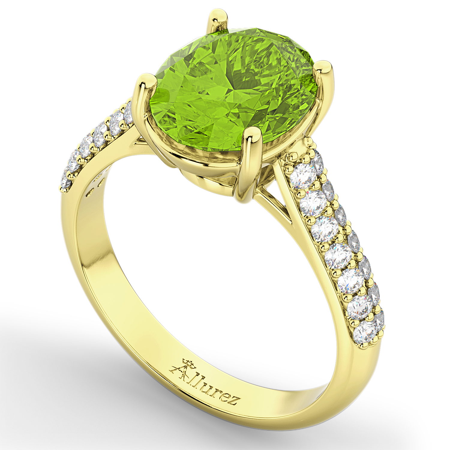 peridot wedding rings oval peridot amp engagement ring 14k yellow gold 4 6465