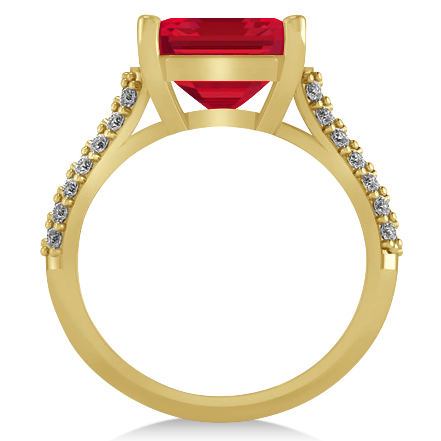 oval ruby engagement ring 18k yellow gold 4