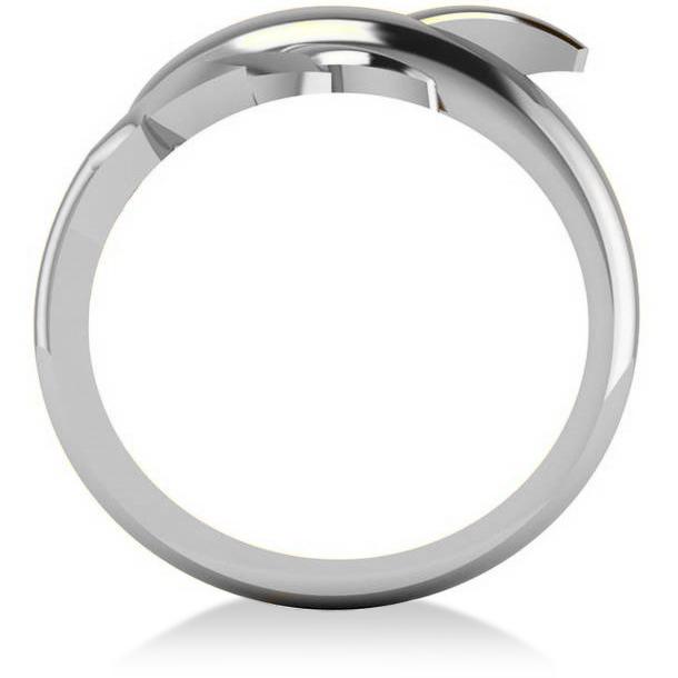 Summertime Dolphin Fashion Ring 14k White Gold