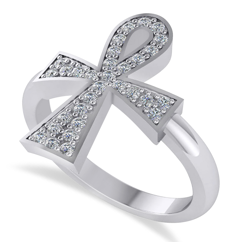 Diamond Ankh Ring
