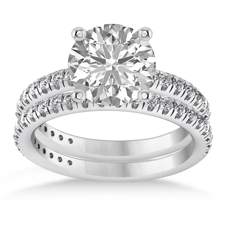 Diamond Round-Set Semi-Eternity Bridal Set Platinum (2.62ct)