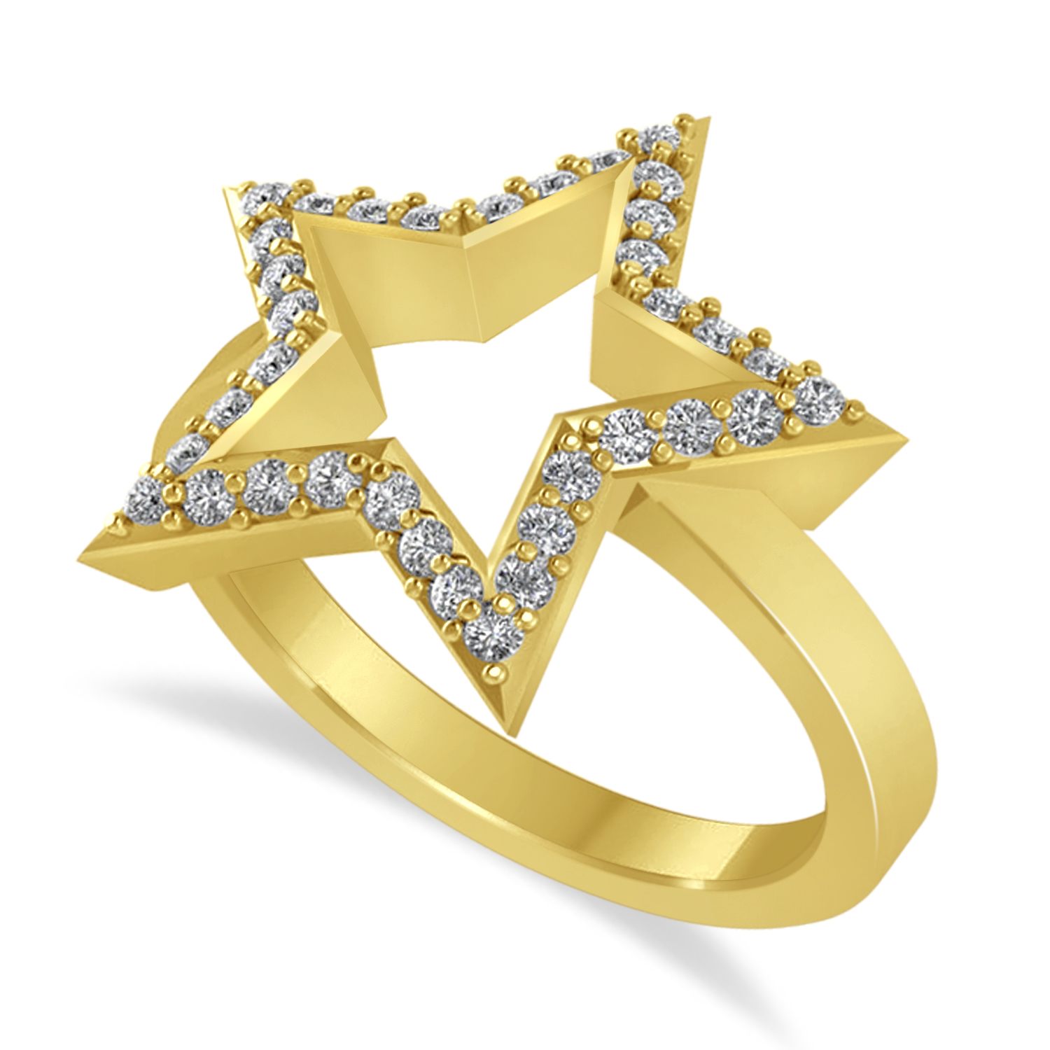 Galaxy Star Diamond Accented Ladies Ring 14k Yellow Gold (0.35ct)
