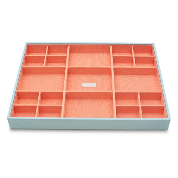 WOLF Women's Large Stackable Jewelry Tray with 21 Compartments in 4 Colors