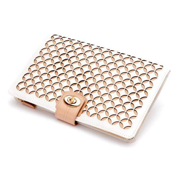 Wolf Designs Chloe Jewelry Portfolio in Cream Pattern Leather
