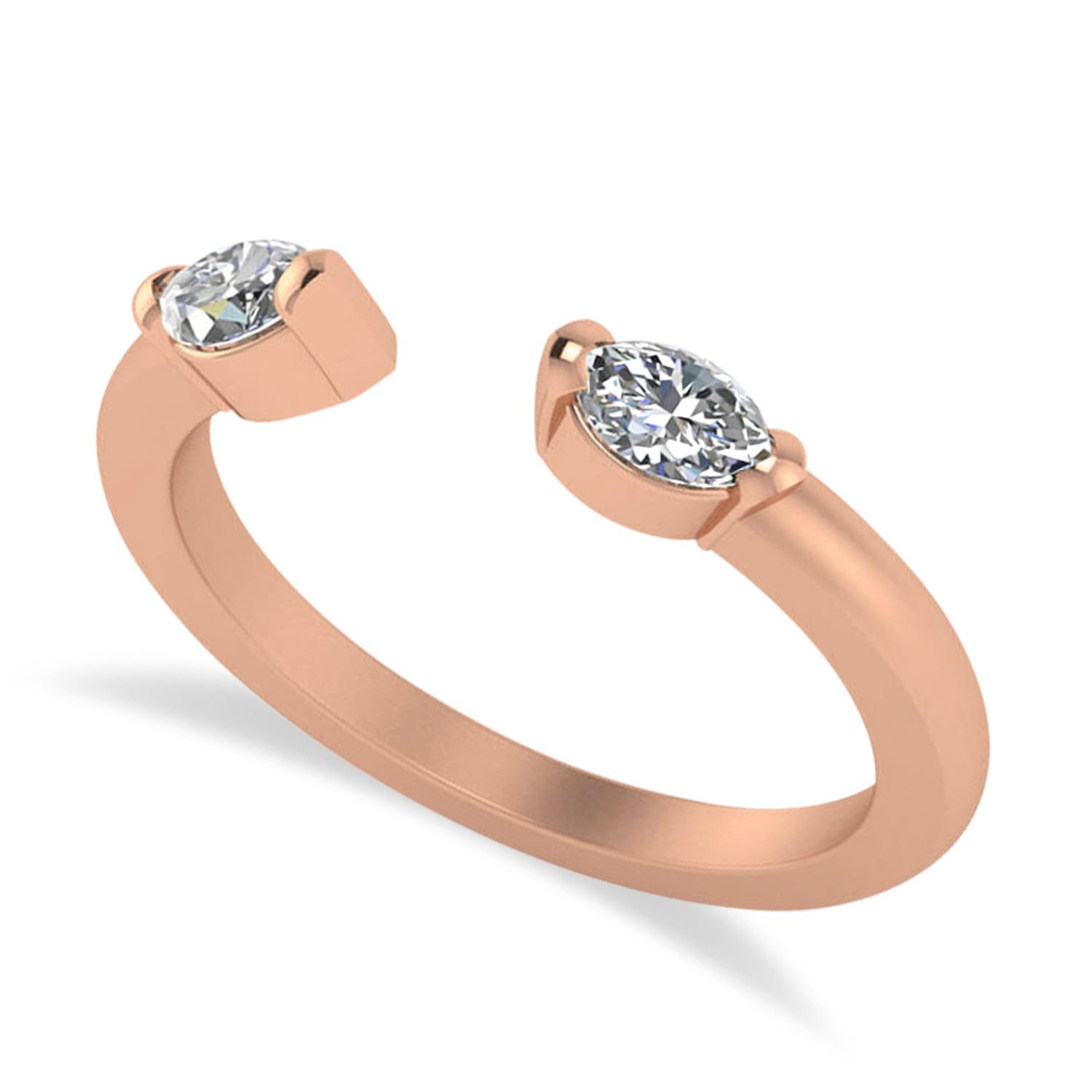 Diamond Open Concept Ring/Band 14k Rose Gold (0.40ct)