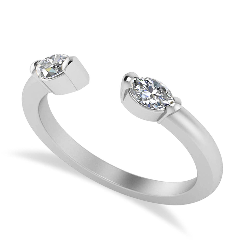 Diamond Open Concept Ring/Band 14k White Gold (0.40ct)