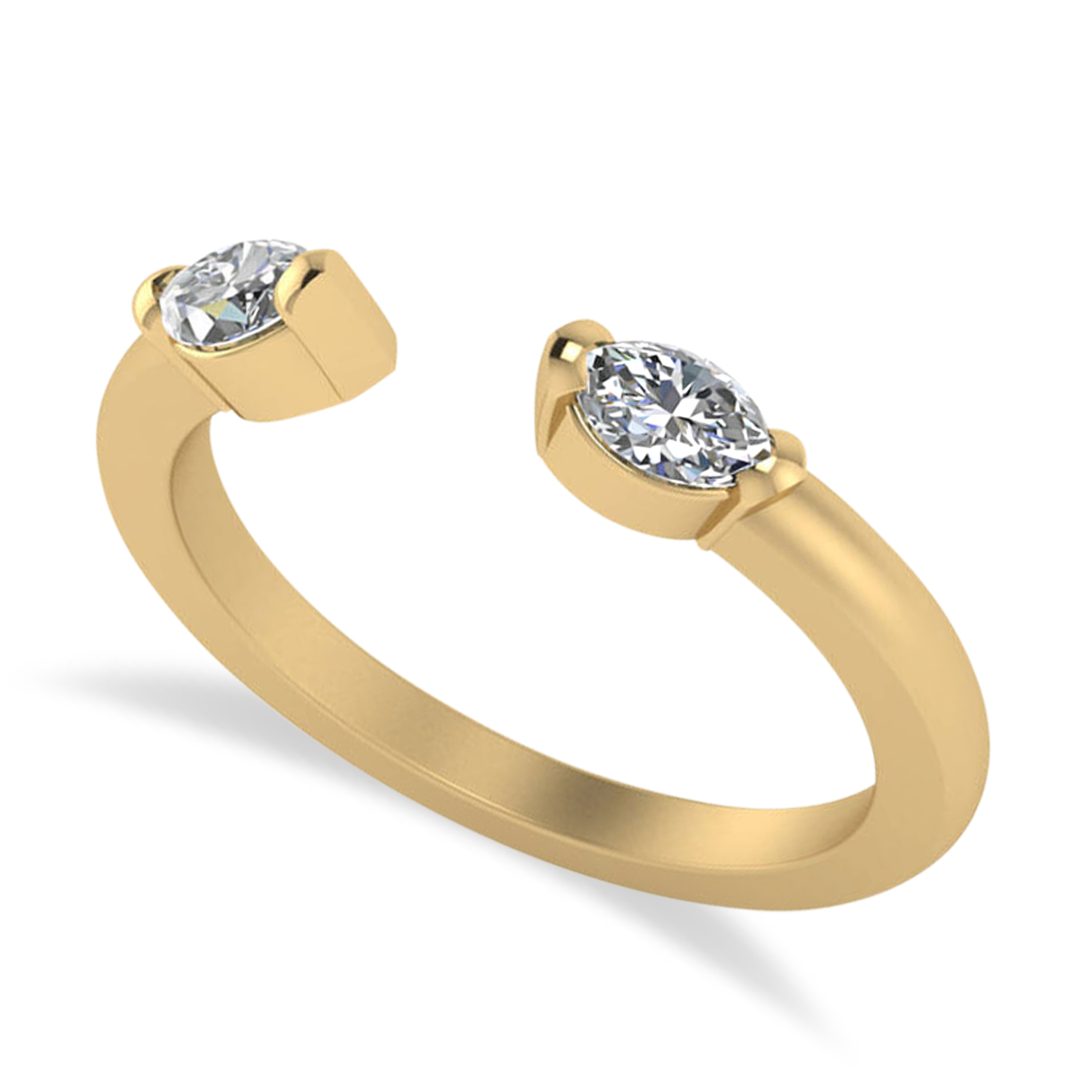 Diamond Open Concept Ring/Band 14k Yellow Gold (0.40ct)