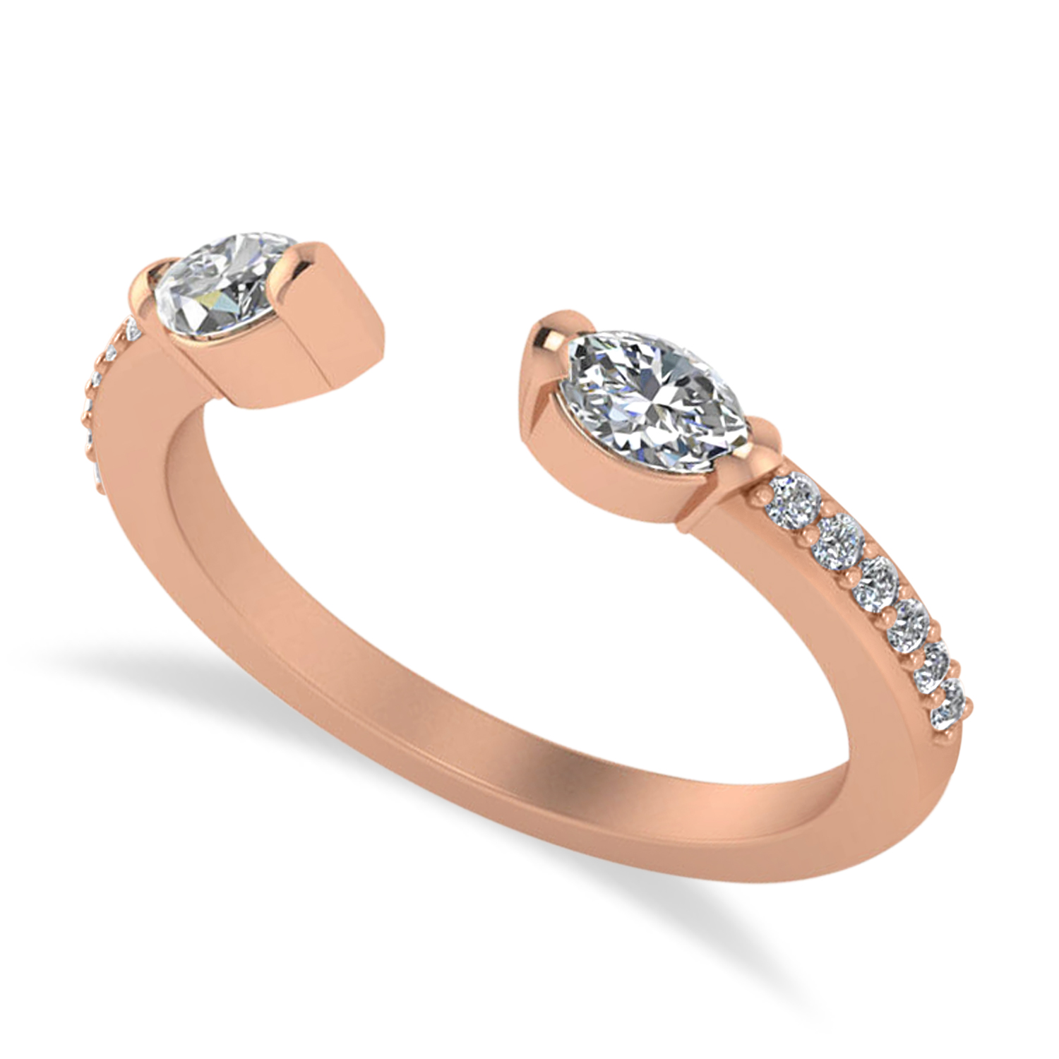 Diamond Open Concept Ring/Band 14k Rose Gold (0.52ct)