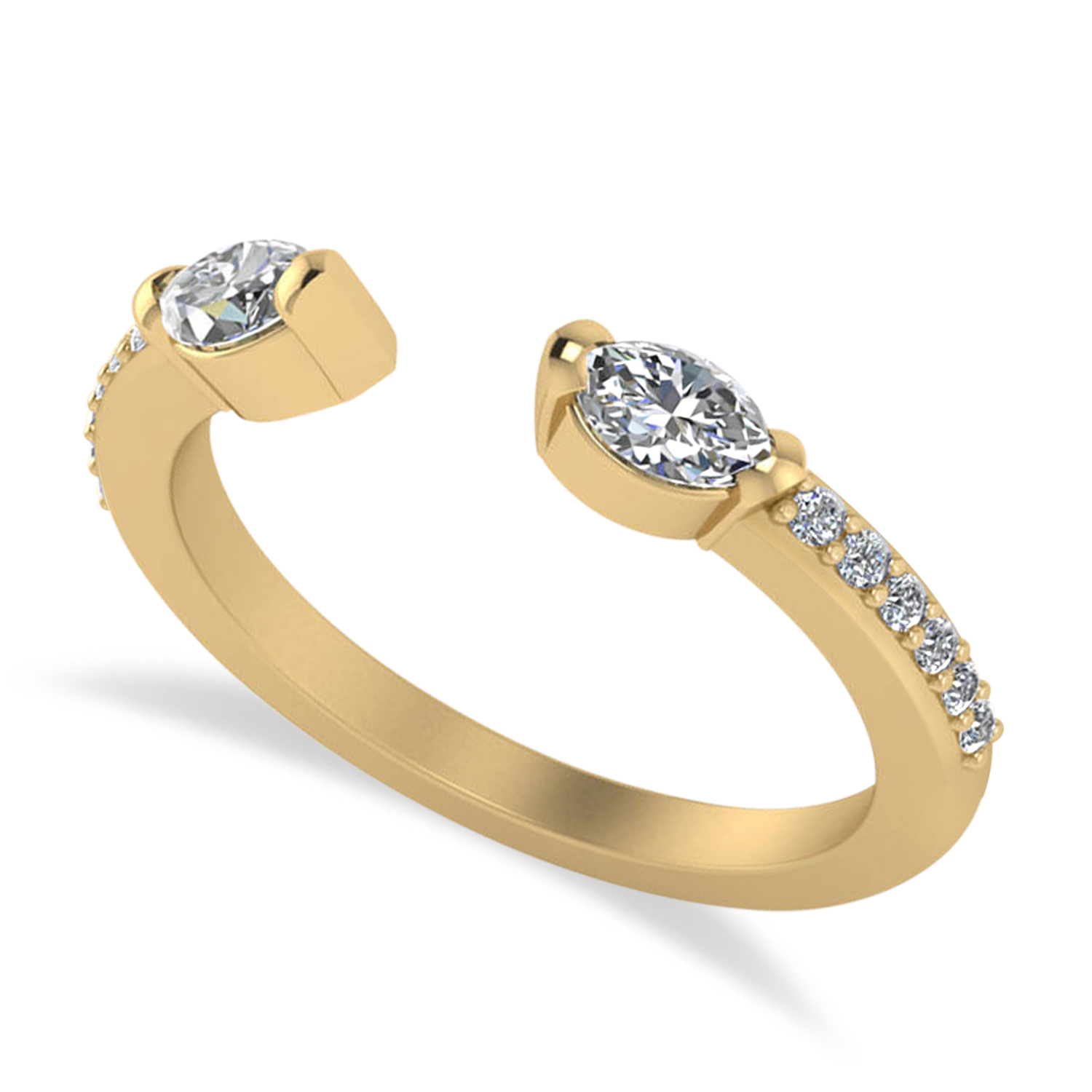 Diamond Open Concept Ring/Band 14k Yellow Gold (0.52ct)