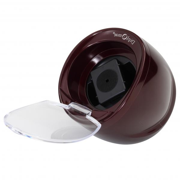 Single Watch Winder in Burgundy w/ Timer Control