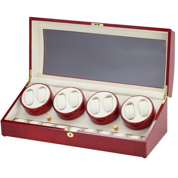 Eight Watch Winder & Watch Box in Cherry Wood