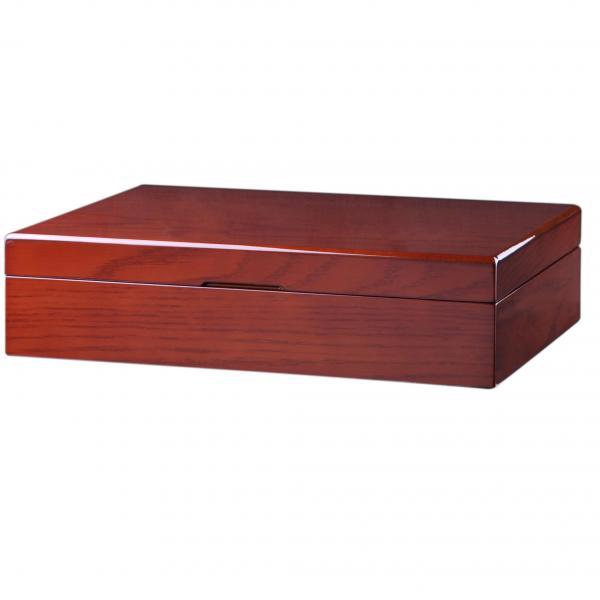 Mahogany Wood & Charcoal Interior Men's 12 Watch Box Storage