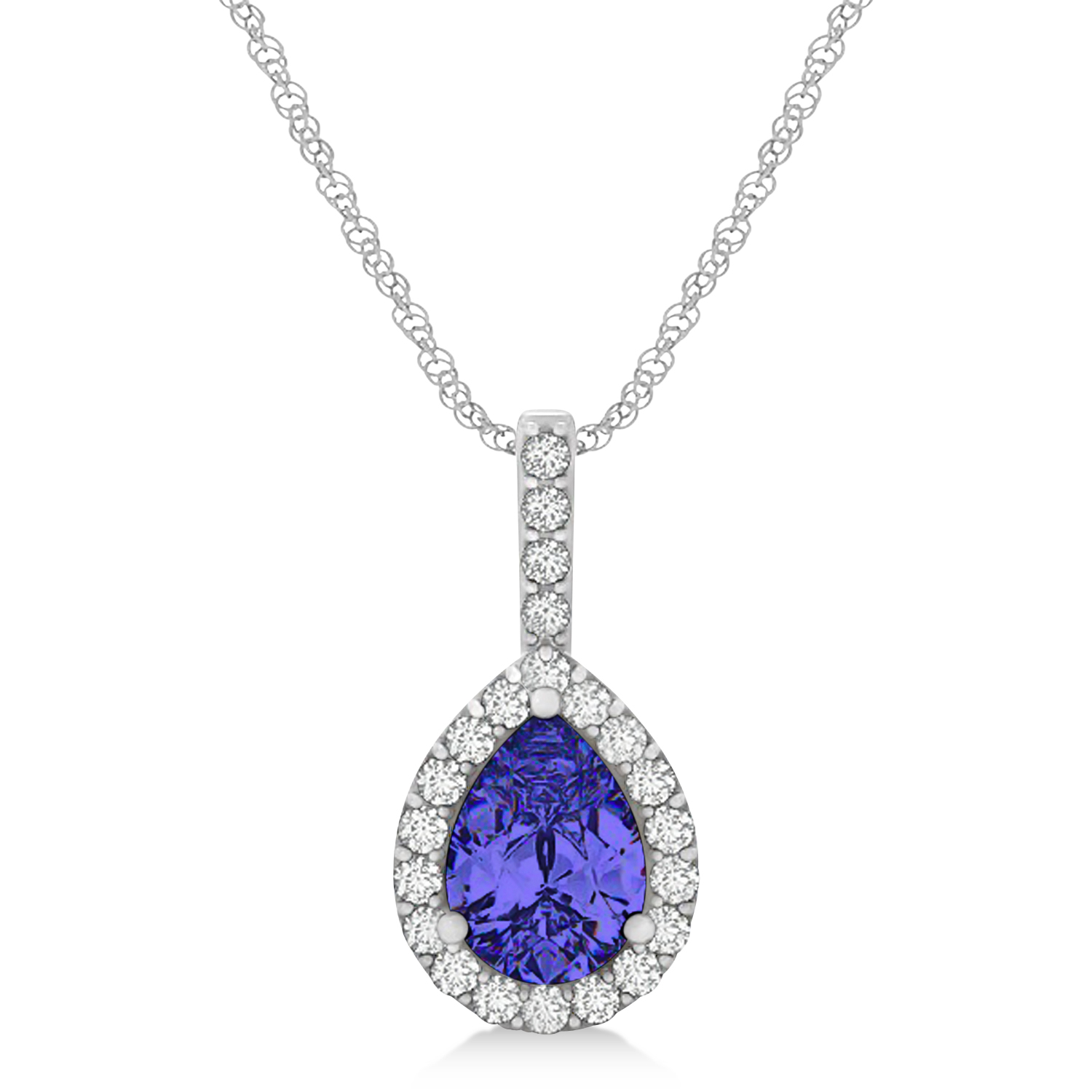diamond products pear shaped pendant