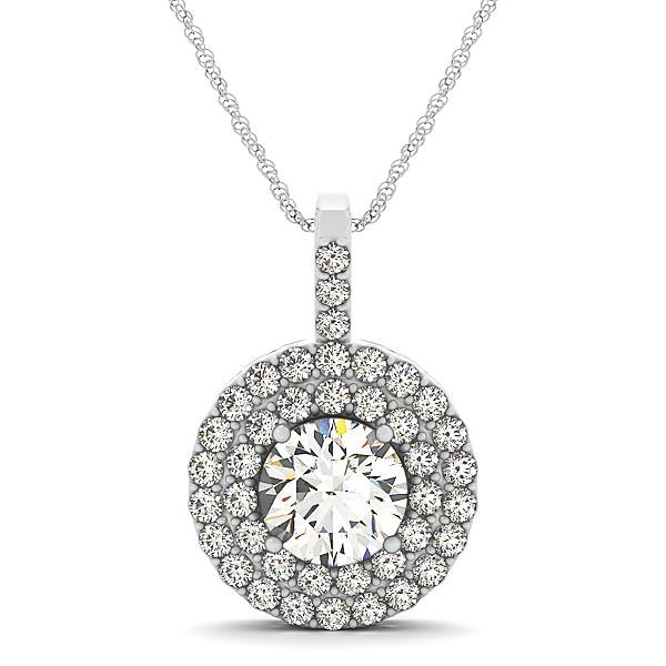 Diamond drop double halo pendant necklace 18k white gold 225ct ng1543 diamond drop double halo pendant necklace 18k white gold 225ct aloadofball Choice Image