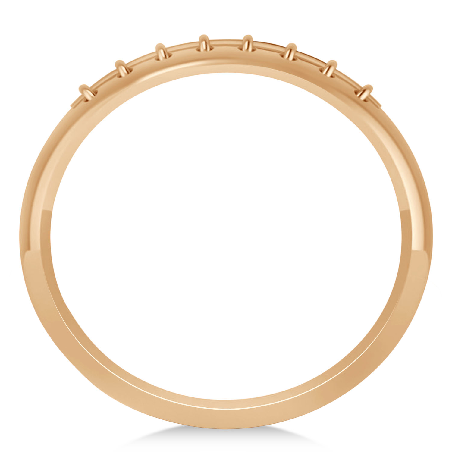 Men's Football Carved Sports Band Ring 14k Rose Gold