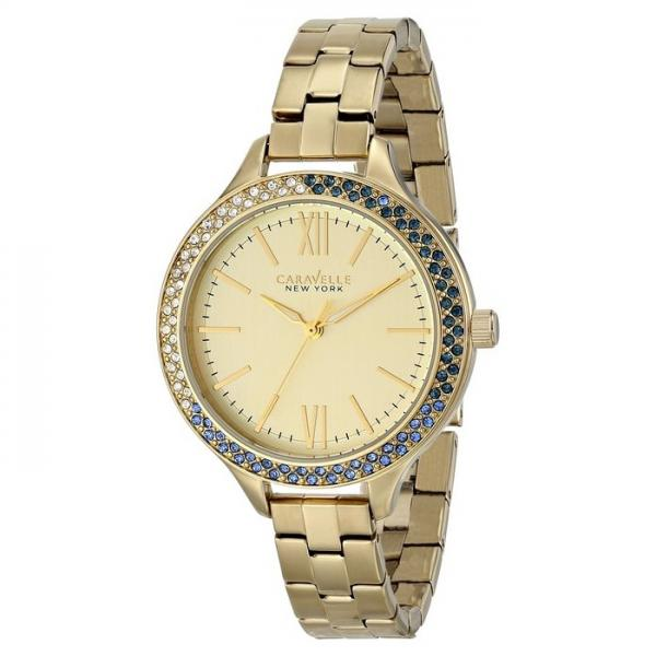 Caravelle Women's Nautical Collection Gold Tone Stainless Steel Watch