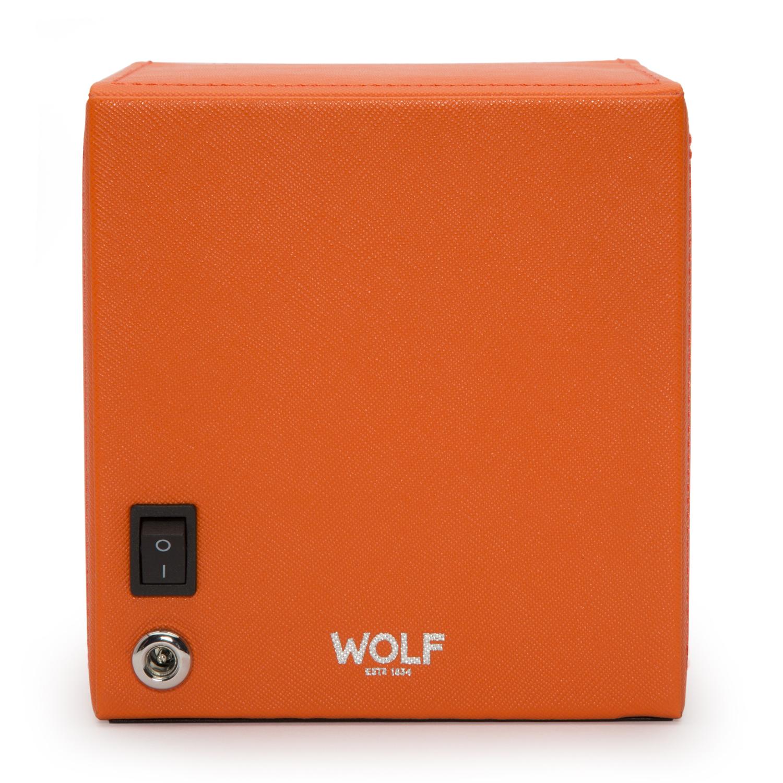 Wolf Designs Cub Single Watch Winder w Cover in Orange