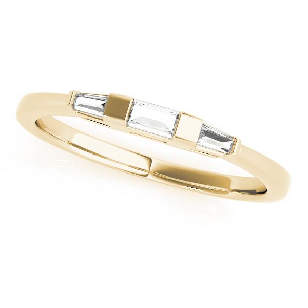 Tapered Baguette 3-Stone Diamond Wedding Band 18k Yellow Gold (0.20ct)