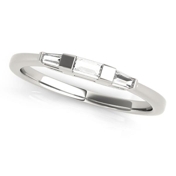 Tapered Baguette 3-Stone Diamond Wedding Band Platinum (0.20ct)