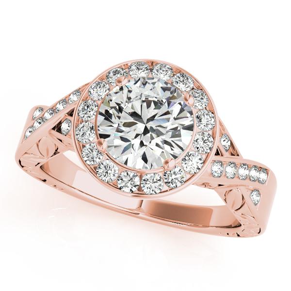 Antique Infinity Halo Diamond Engagement Ring 14k Rose Gold (1.70ct)