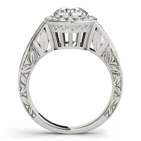 Antique Infinity Halo Diamond Engagement Ring 14k White Gold (1.70ct)