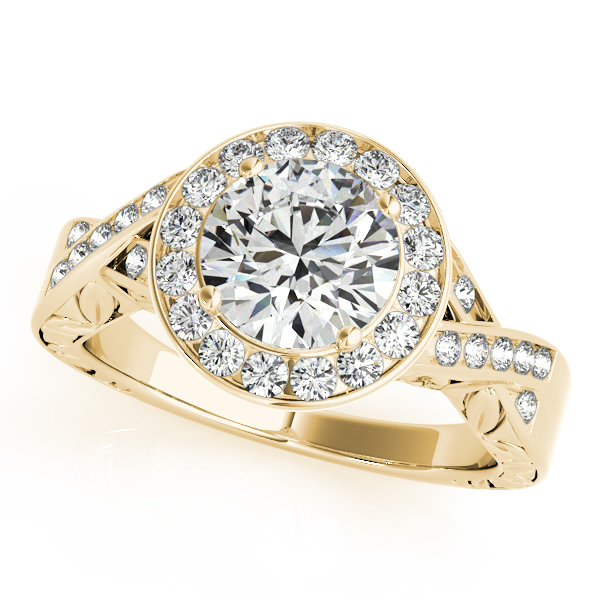 Antique Infinity Halo Diamond Engagement Ring 14k Yellow Gold (1.70ct)