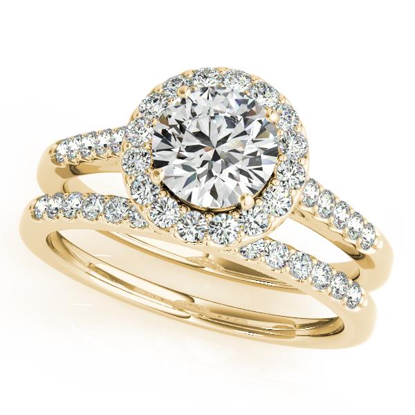 Halo Round Diamond Engagement Ring 18k Yellow Gold (1.61ct)