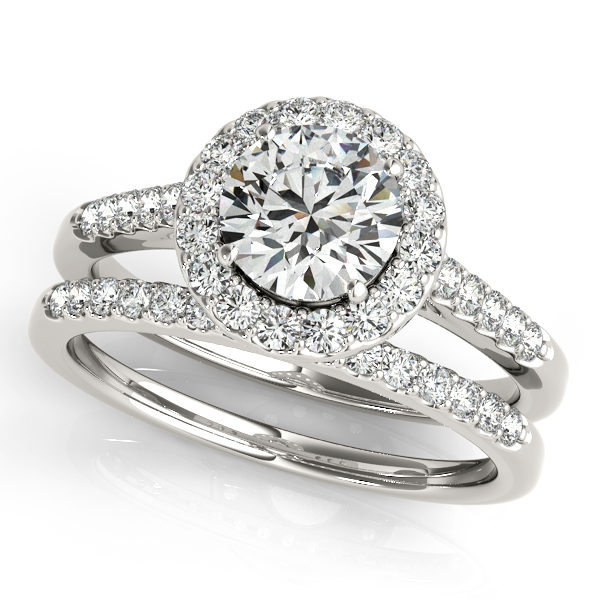 Halo Round Diamond Engagement Ring Platinum (1.61ct)