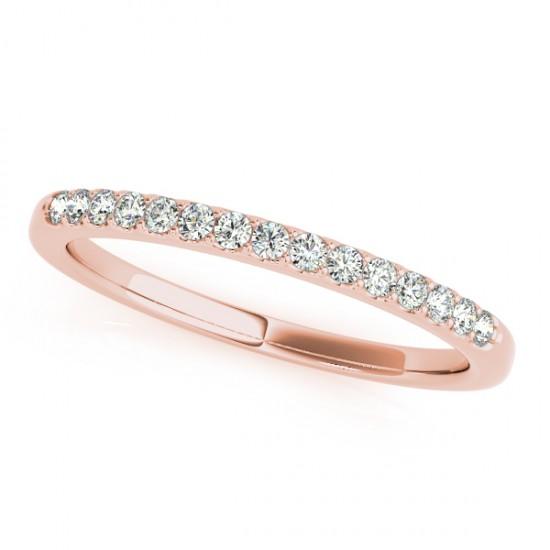 Diamond Wedding Ring Band 18k Rose Gold (0.23ct)