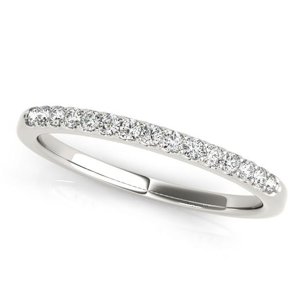 Diamond Wedding Ring Band 18k White Gold (0.23ct)