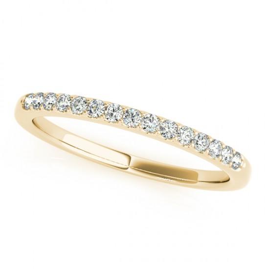 Diamond Wedding Ring Band 18k Yellow Gold (0.23ct)