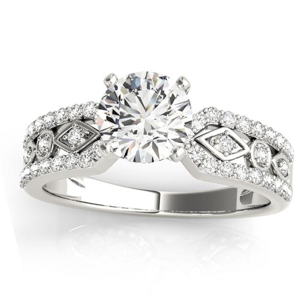 Diamond Multi-Row Engagement Ring Setting Platinum (0.22 ct)