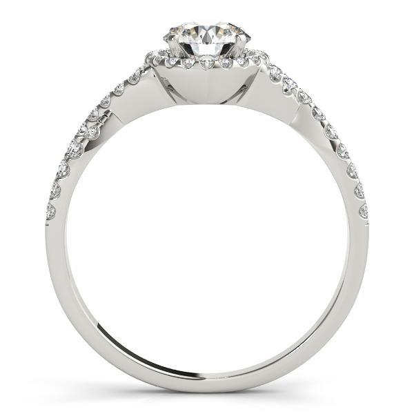 Twisted Infinity Halo Engagement Ring Setting Palladium (0.20ct)