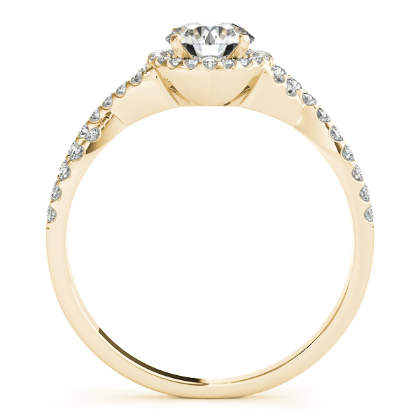 Twisted Infinity Engagement Ring Bridal Set 18k Yellow Gold 0.27ct