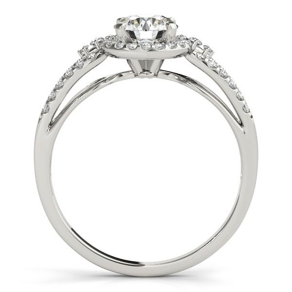 Diamond Engagement Ring Setting & Wedding Band 14k White Gold (0.41ct)