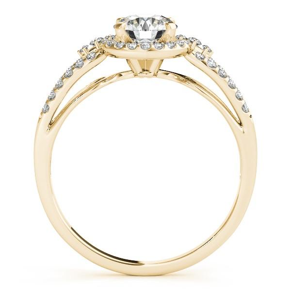 Diamond Engagement Ring Setting & Wedding Band 14k Yellow Gold 0.41ct