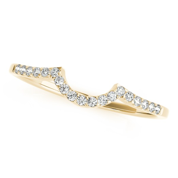 Semi Eternity Contour Diamond Wedding Ring in 14k Yellow Gold (0.11ct)
