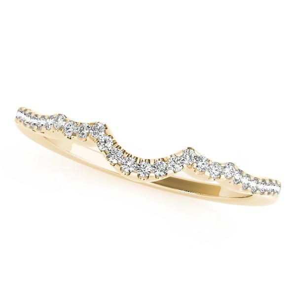 Semi Eternity Contour Diamond Wedding Ring in 14k Yellow Gold (0.15ct)
