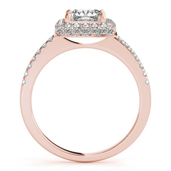 Cushion Cut Diamond Halo Engagement Ring 18k Rose Gold (2.00ct)