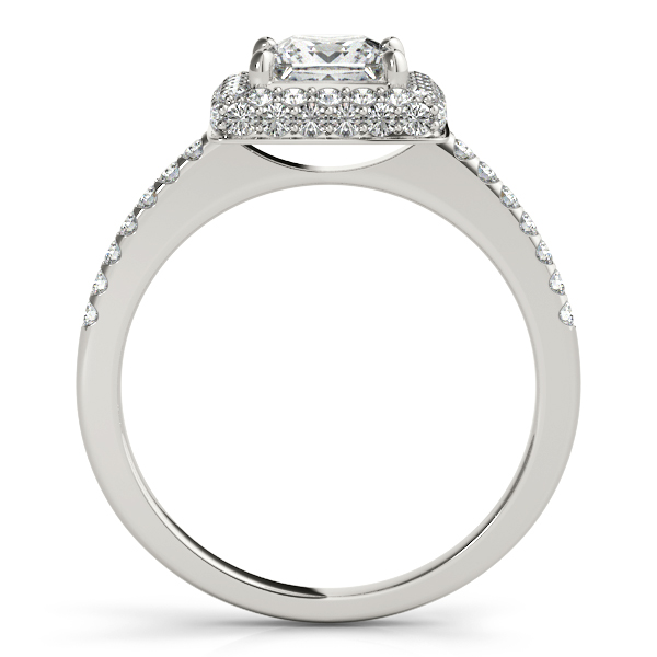 princess cut diamond halo engagement ring platinum 200ct