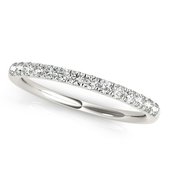 Diamond Wedding Ring Band 14k White Gold (0.23ct)