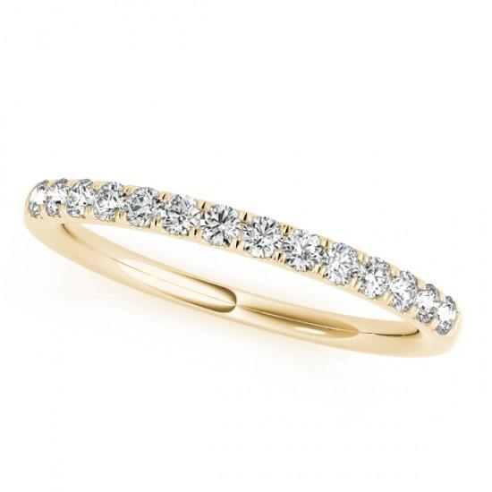 Diamond Wedding Ring Band 14k Yellow Gold (0.23ct)