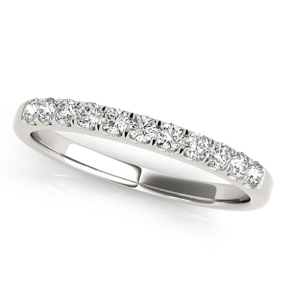 Diamond Prong Wedding Band 14k White Gold (0.30ct)