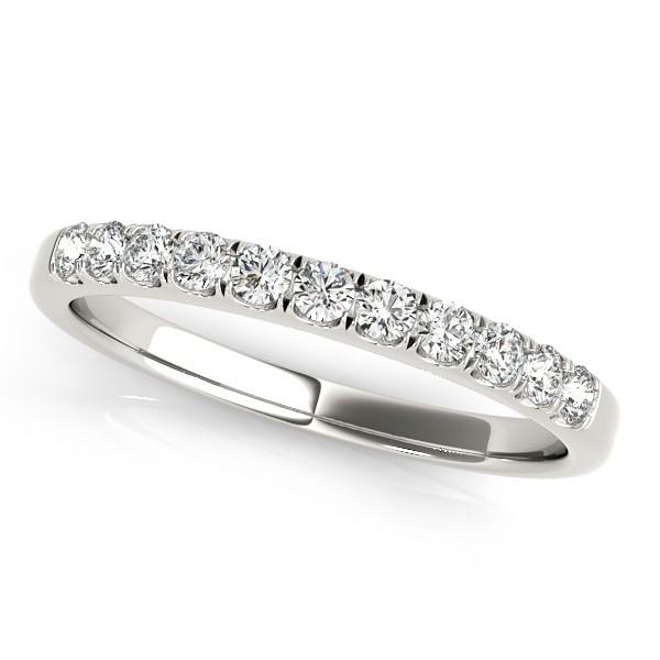 Diamond Prong Wedding Band 18k White Gold (0.30ct)
