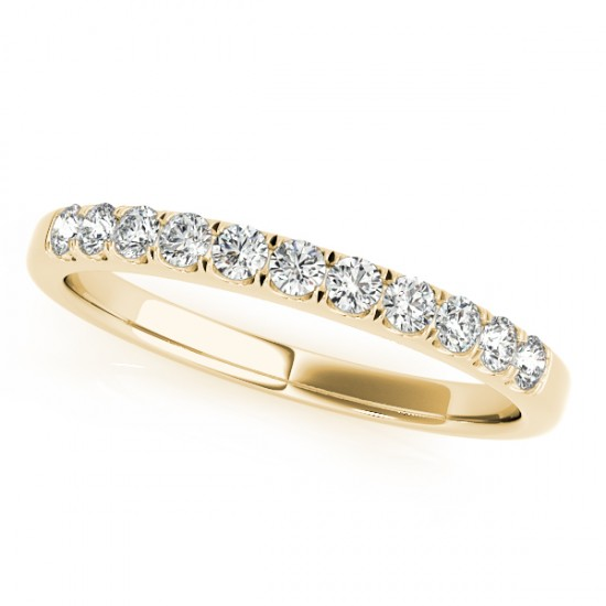 Diamond Prong Wedding Band 18k Yellow Gold (0.30ct)