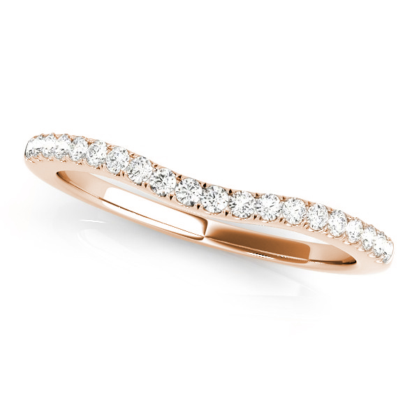Semi Eternity Diamond Bridal Set 14k Rose Gold (0.75ct)