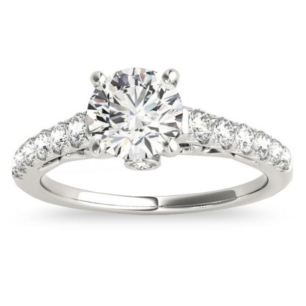 Semi Eternity Diamond Bridal Set 14k White Gold (0.75ct)