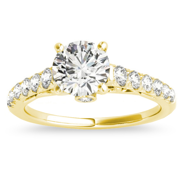 Semi Eternity Diamond Bridal Set 14k Yellow Gold (0.75ct)