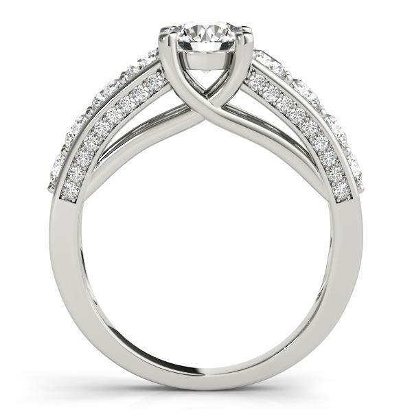 Trellis Diamond Engagement Ring w/ Side Accents 14k W. Gold (2.83ct)