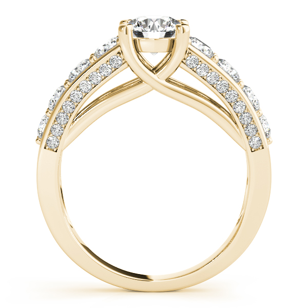 Trellis Diamond Engagement Ring Bridal Set 18k Yellow Gold (3.00ct)